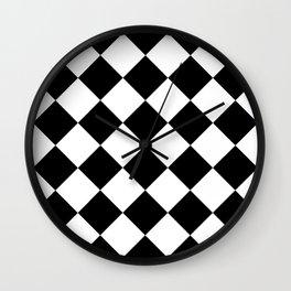 Rhombuses (Black & White Pattern) Wall Clock