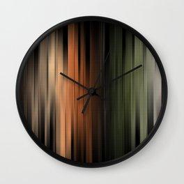 Hues of Autumn Abstract Wall Clock