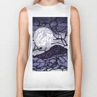 cracked Biker Tanks featuring Cracked by Mel Moongazer