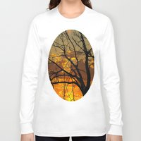jewish Long Sleeve T-shirts featuring Sunset Tree by Brown Eyed Lady