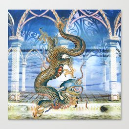 THE WATER DRAGON Canvas Print