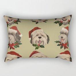 SantaSHeepies in Tan Rectangular Pillow
