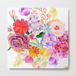 Spring Bouquet in the Garden Metal Print