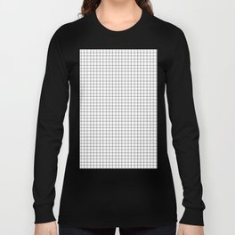Minimal Black and White Grid Long Sleeve T-shirt