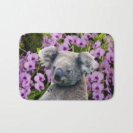 Koala and Orchids Bath Mat