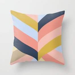 SUNSET MINIMAL STRIPES Throw Pillow