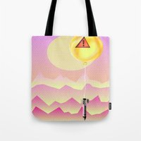 bombs away Tote Bags featuring Bombs Away by charles lee