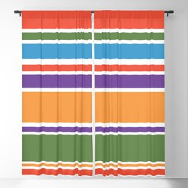 Modern Colorful Stripes Blackout Curtain