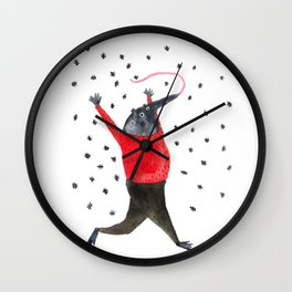 He Dreams of Ants Wall Clock
