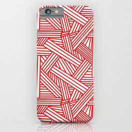 Sketchy Abstract (Red & White Pattern) iPhone Case