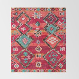 (N18) Traditional Colored Oriental Moroccan Artwork Throw Blanket