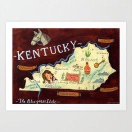 Kentucky Art Print