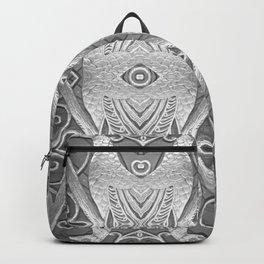 Art Deco Silver Peacocks Backpack