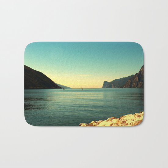 windsurfers in Italy Bath Mat