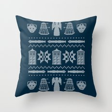 Who's Sweater Throw Pillow