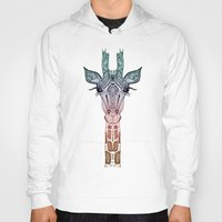 animals Hoodies featuring GiRAFFE by Monika Strigel