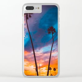 Sunset in California Clear iPhone Case
