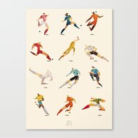 world cup Canvas Prints featuring WORLD CUP by rafael mayani