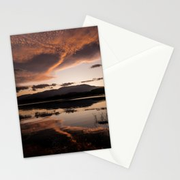 beautiful sunset reflection Stationery Cards