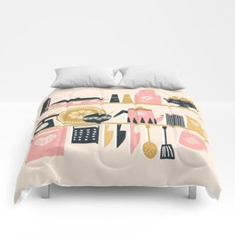 Colorful Cooking In A Mid Century Scandinavian Kitchen Comforters