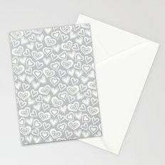 MESSY HEARTS: IVORY GRAY Stationery Cards