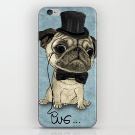 Pug; Gentle Pug (v3) iPhone Skin