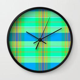 1973 Banquet Plaid Wall Clock