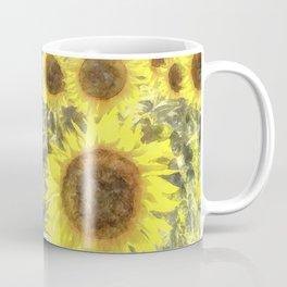 Sunflower Fields Of Summer Watercolour Coffee Mug