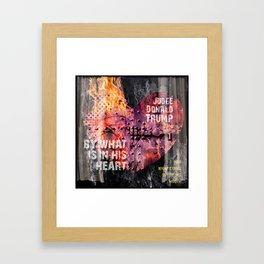 Judge Donald Trump .5 Framed Art Print