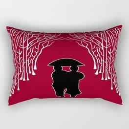 White Forest Rectangular Pillow