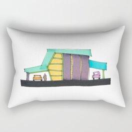 Retro Auto Shop Illustration 101 Rectangular Pillow