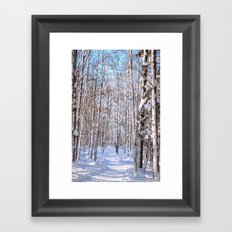 Snow Driven Framed Art Print