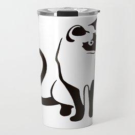 Siamese Cat Design Travel Mug