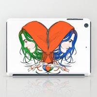 nietzsche iPad Cases featuring Clementine's Heart by castlepöp