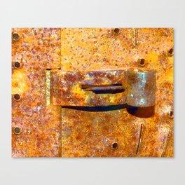 Industrial Lock Canvas Print