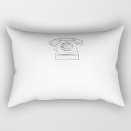 Old Phone - One Line Drawing Rectangular Pillow
