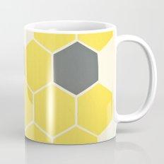 Yellow Honeycomb Mug