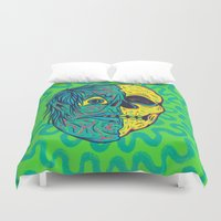 holiday Duvet Covers featuring TODD HOLIDAY by Dip Dripper
