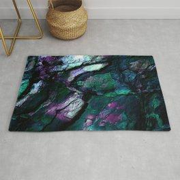 Textured Minerals teal purple green Rug