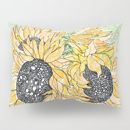 Fall Sunflower Bouquet in Pitcher Offset Pillow Sham