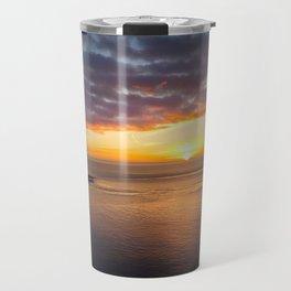 Sunrise at Mumbles Lighthouse Travel Mug