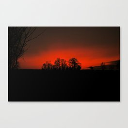 Sunset red Canvas Print