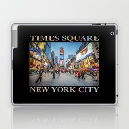 Times Square Sparkle (with type on black) Laptop & iPad Skin