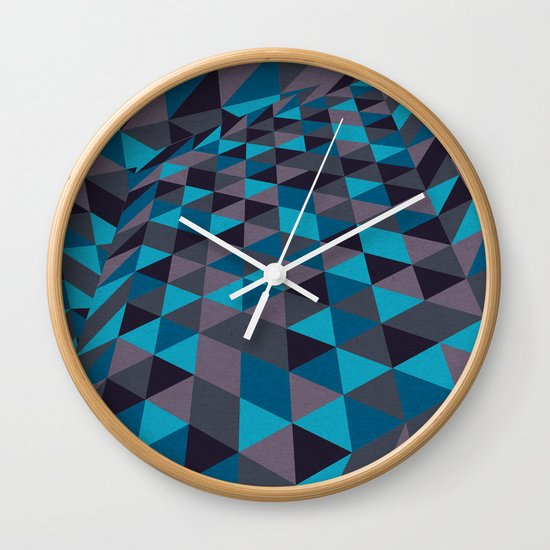 Triangulation (Inverted) Wall Clock