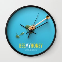 Bee My Honey Wall Clock