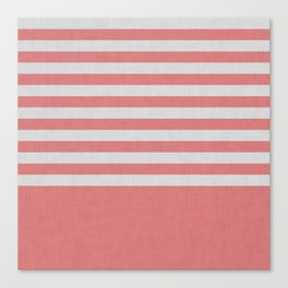 Orange and gray color block and stripes Canvas Print