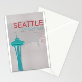 Seattle Poster Stationery Cards