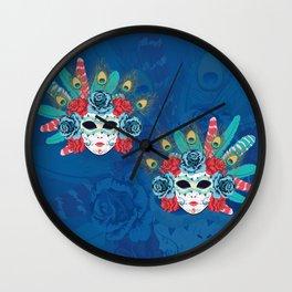 Carnival face mask Wall Clock