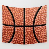 basketball Wall Tapestries featuring BasketBall Dreams by Jane Holloway