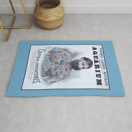 Captain Costentenus, tattoed from head to foot Poster Rug